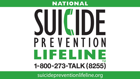 For suicide prevention support in English call 1—800-273-8255. In Spanish call 1-888-628-9454