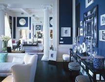 Navy Blue and White Interior
