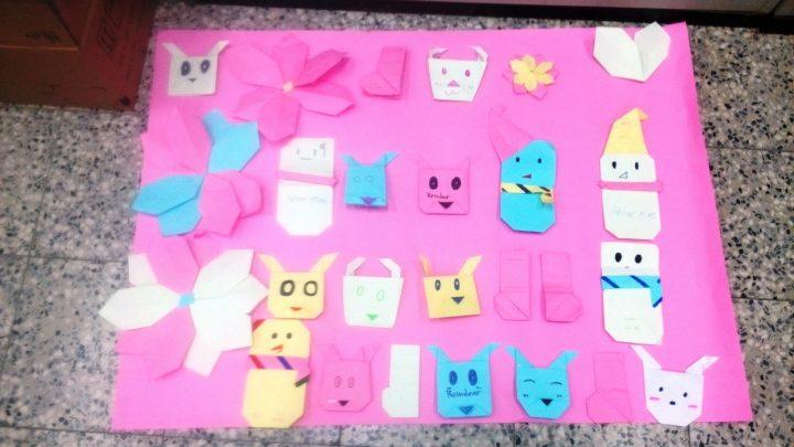 學生做好的摺紙作品