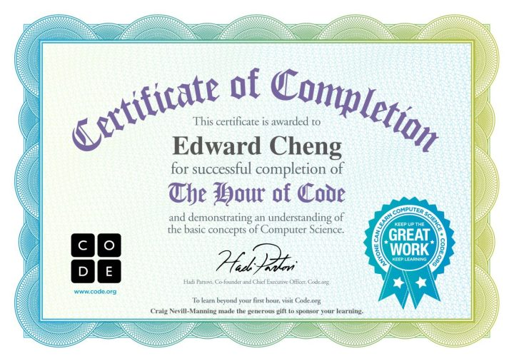 edward hour of code