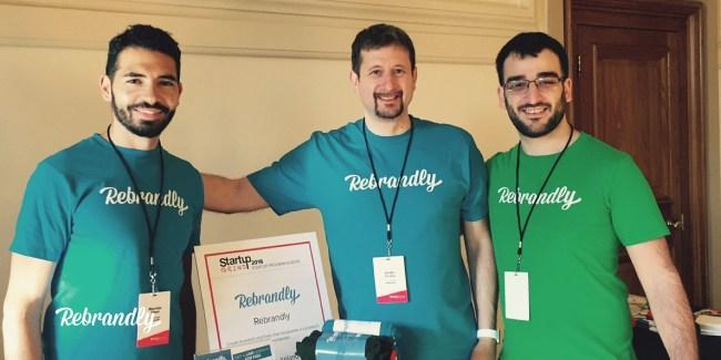 Rebrandly team attending Startup Grind Europe
