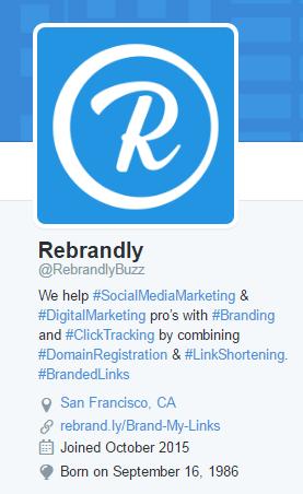 Rebrandly Twitter Bio