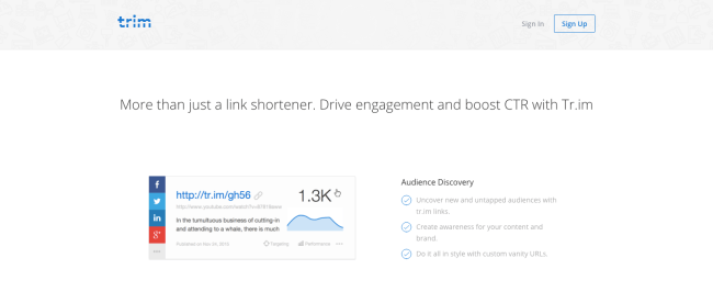 Trim URL Shortener