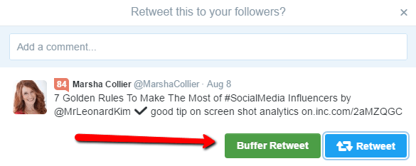 Use Buffer Retweet to Curate Content