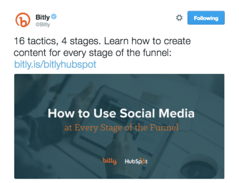 Bitly Tweet with branded link