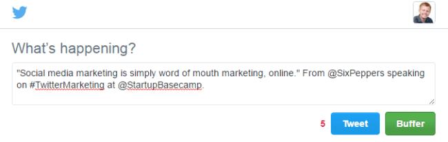 Click to Tweet Example