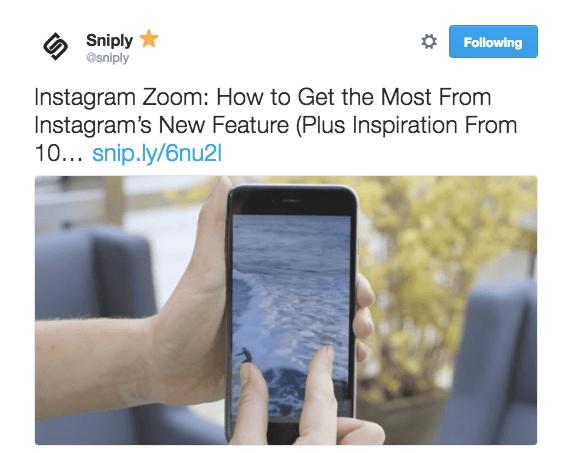 Sniply Social Media Post
