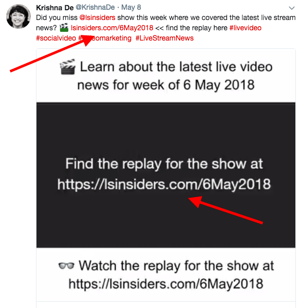 facebook live tips example in video caption