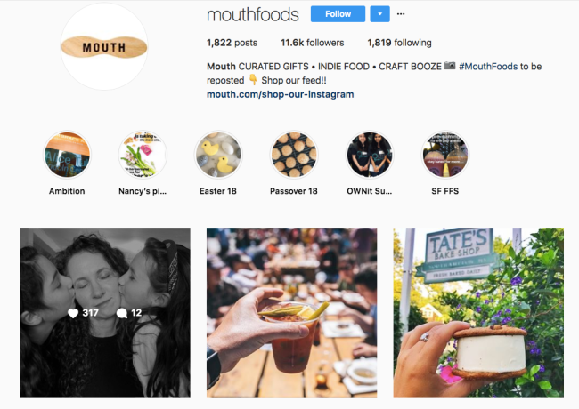 brand story example mouthfoods