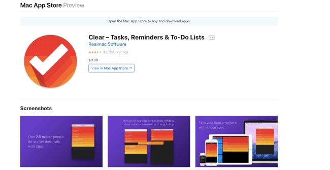 clear - Productivity App 2019