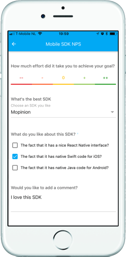Feedback Form On Mobile