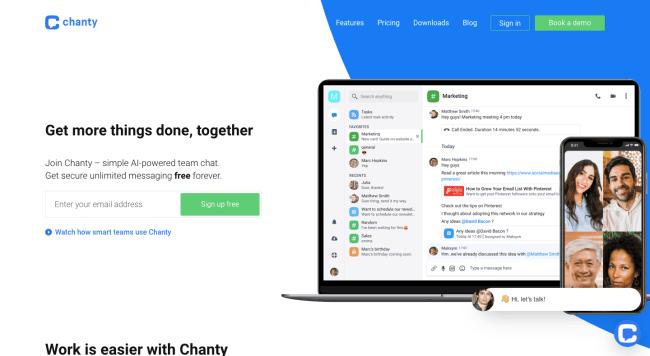Chanty - best productivity tools