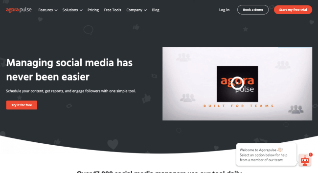 Agorapulse Best Social Media Monitoring Tools
