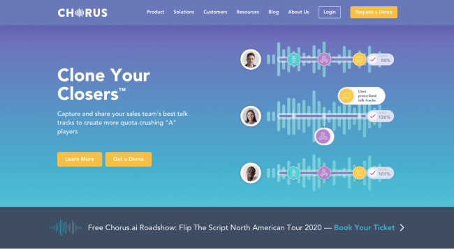 Chorus- best sales intelligence software