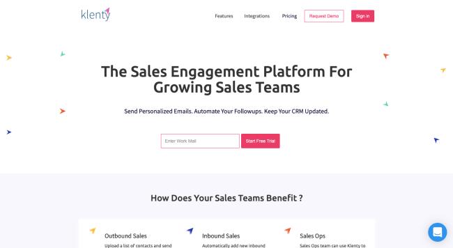 Klenty - best sales intelligence software