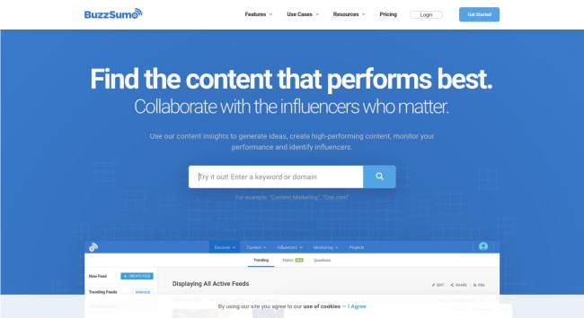 BuzzSumo - best content marketing tools