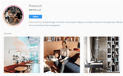 WeWork - B2B social media marketing