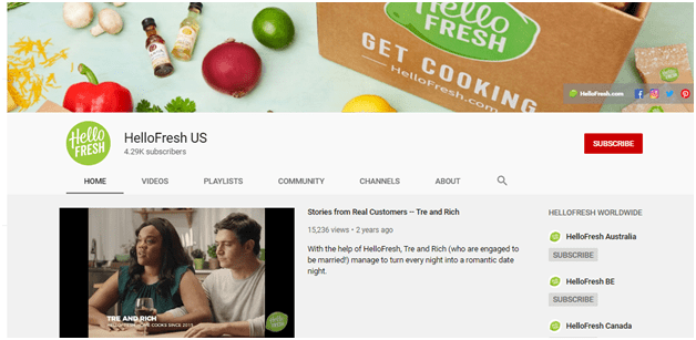 HelloFresh - how to start a youtube channel