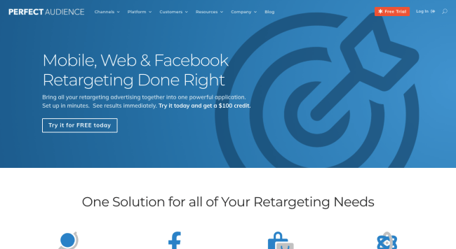 Perfect audience - best retargeting platforms