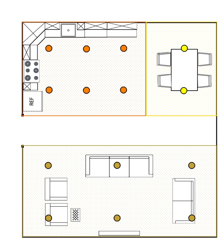 living room recessed lighting modern for small spaces how many lights the company blog reflected ceiling plan with segments