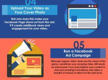 How to Make Facebook Videos Go Viral - Infographic