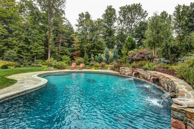 Natural looking pool