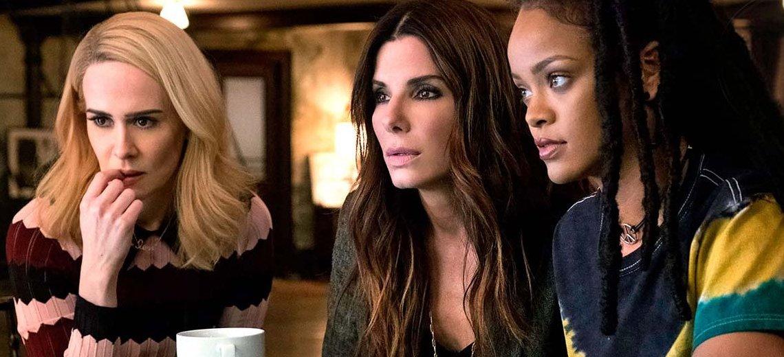 """Sarah Paulson, Sandra Bullock, and Rihanna in """"Ocean's 8"""""""