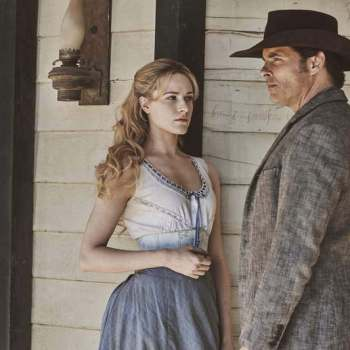 "Evan Rachel Wood and James Marsden in ""Westworld"" from HBO Productions."