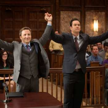 "Breckin Meyer and Mark-Paul Gosselaar in ""Franklin & Bash"" from Sony Pictures Television now playing on Vudu."