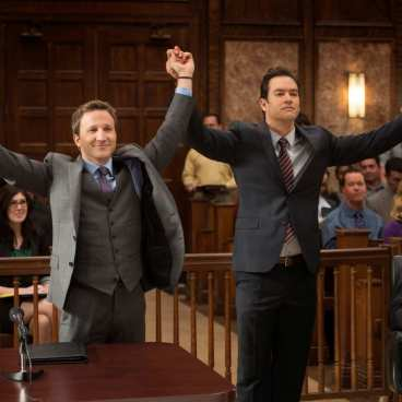 """Breckin Meyer and Mark-Paul Gosselaar in """"Franklin & Bash"""" from Sony Pictures Television now playing on Vudu."""