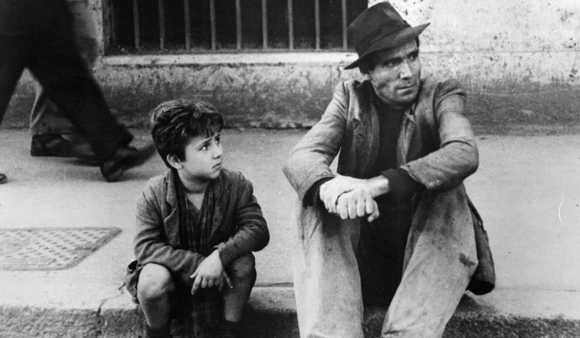 """Scene from the movie """"Bicycle Thieves"""""""