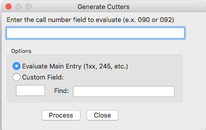 Generate Sanborn Cutters Mac
