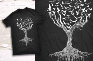 Camiseta árbol