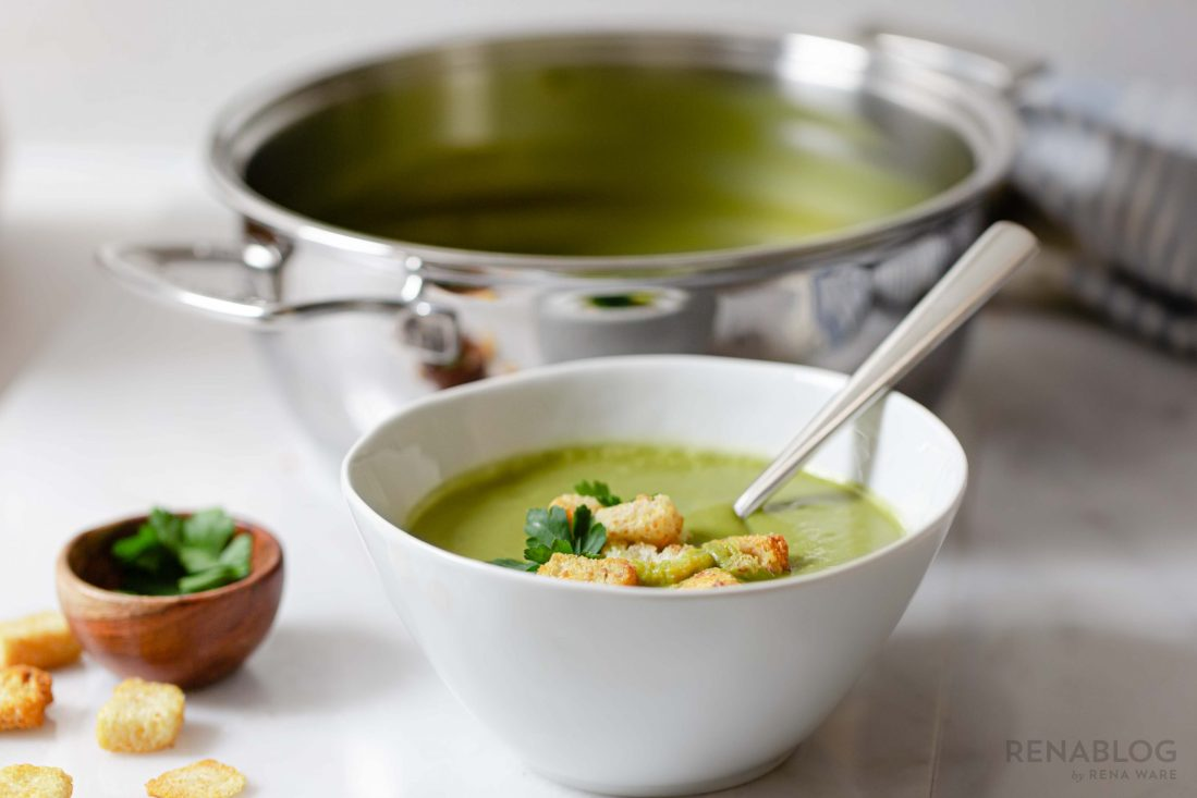 Sopa de brócoli fácil