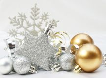 Silver and gold Christmas ornaments
