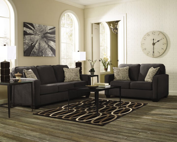 Ashley Alenya-Charcoal Sofa and Loveseat