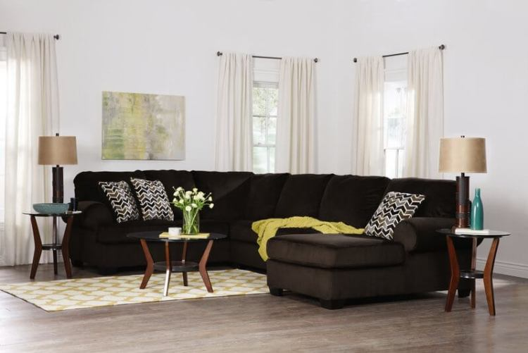 Ashley Bedford-Chocolate Sectional