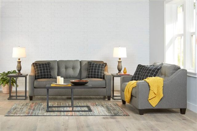 Benchcraft Brindon-Charcoal Sofa and Loveseat