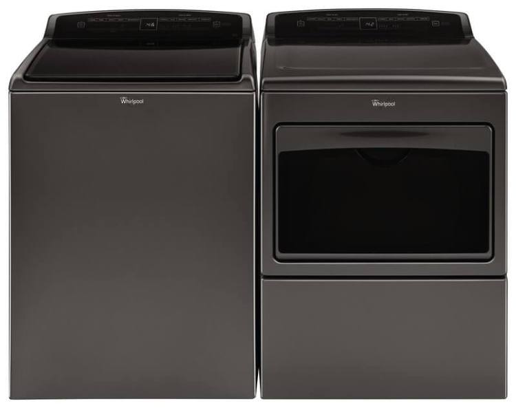 Black Whirlpool Washer and Dryer Set