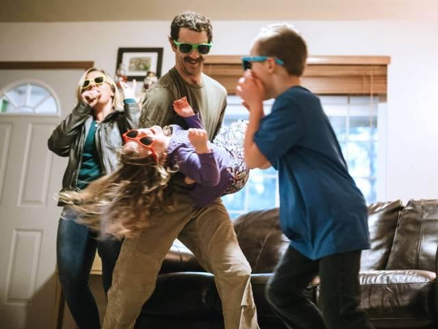 Family Enjoying Kids Dance Party
