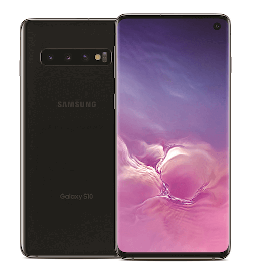 Samsung Galaxy S10 Front and Back View
