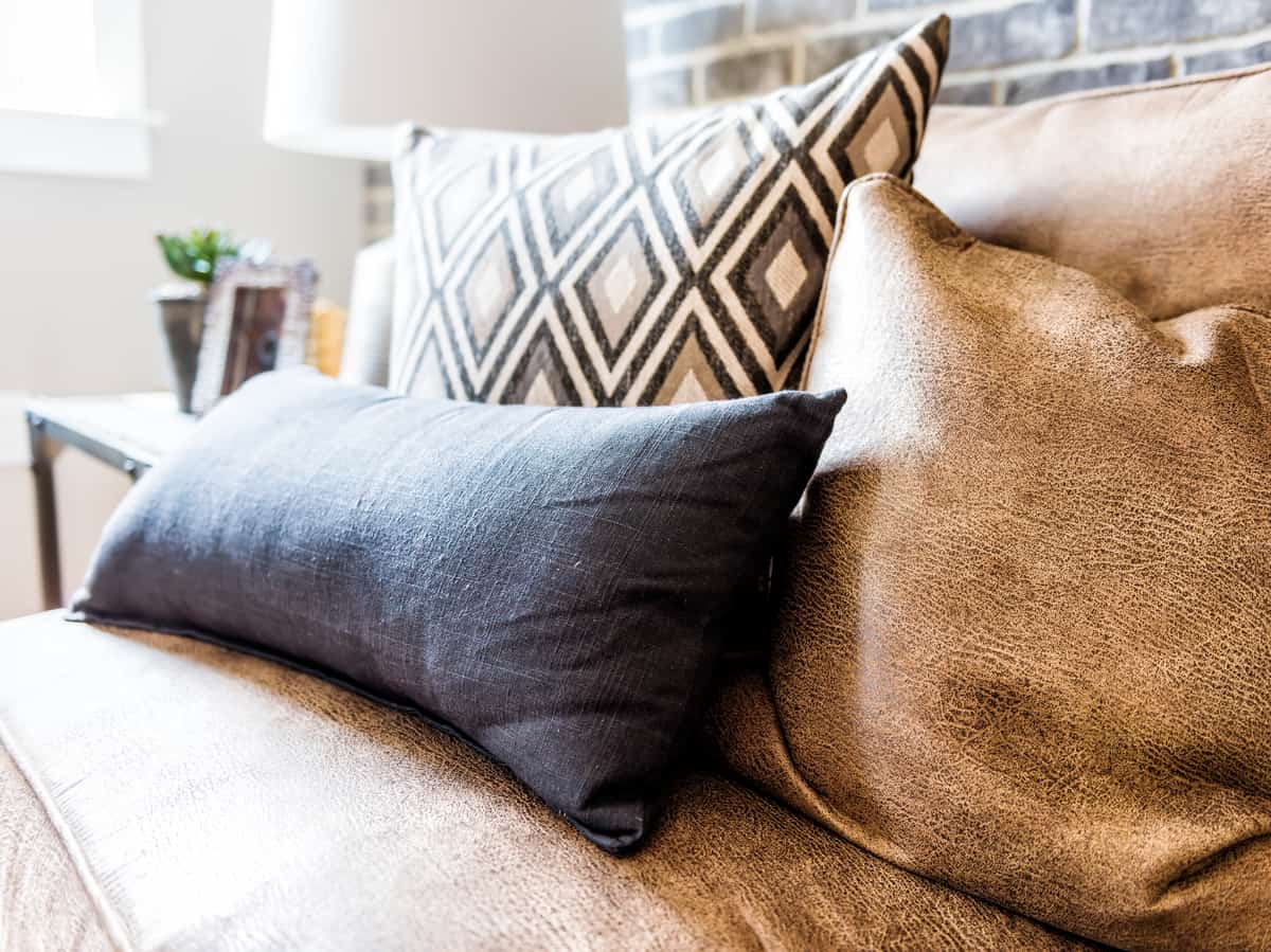 styling a brown sofa