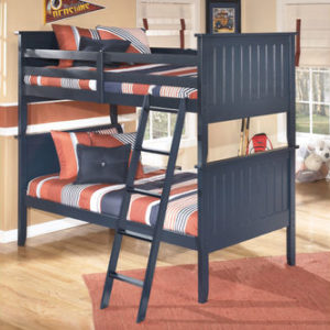 Black Ashley Leo Twin Over Twin Bunk Bed