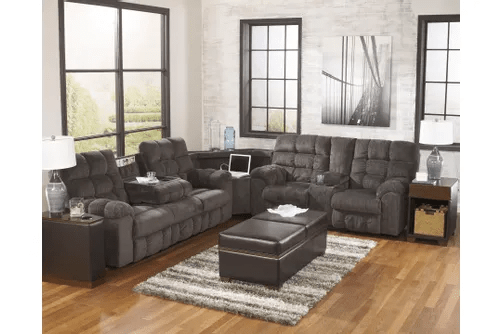 Tasteful sectional in a polished living room.