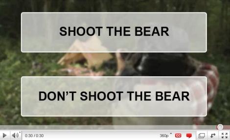 orso e cacciatore