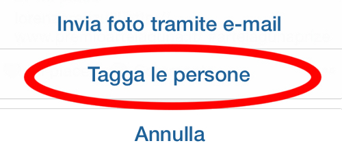 tag persone Instagram