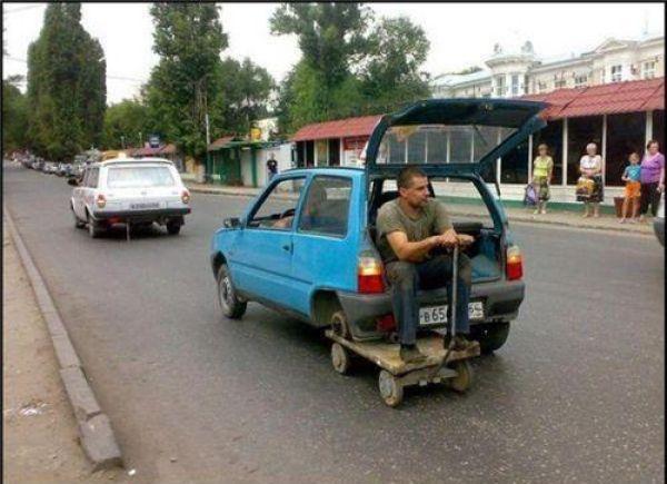 carrillo coche sin rueda