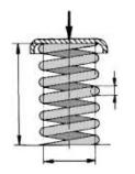 fragmento de muelles helicoidales