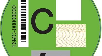 etiqueta C verde DGT
