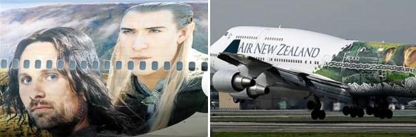 Az Air New Zealand gépe A gyűrűk ura karaktereivel